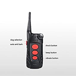Aetertek® AT-918C-2 Updated & Submersible Dog Training Shock Collar Rechargeable Dog Collar with 600 Yards Remote Range (For 2 dogs)