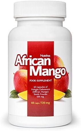 ✅AFRICAN MANGO Premium Schlankheitsmittel, Gesundes Abnehmen & Entgiften, Effektive Fettverbrennung, Fatburner, Appetitzügler, Basispaket 60 Kapseln / 720 mg