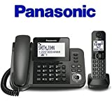 Best Corded Cordless Phones - Panasonic KXTGF350 Digital Corded/Cordless Phone System with answering Review