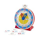 Toys : Melissa & Doug Turn & Tell Wooden Clock (Educational Toy, 13 Reversible Time Cards, Great Gift for Girls and Boys - Best for 4, 5, 6, and 7 Year Olds)