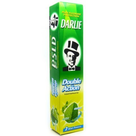Darlie 2 Mint Powers Plus Fluoride Protection Double Action Toothpaste 170 g. Made in Thailand by Darlie (1 Piece/Pack)