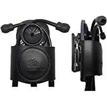 SECURE-A-SCOPE-100% Black Genuine Leather Stethoscope Holder with Rotatable Clip for All Models: ADC, MDF, Adscope, Littmann. Perfect for Physicians, Nurses, EMT, Medical Nursing Students.