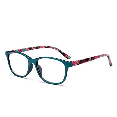 chuwa Reading Glasses Flower Unisex Fashion Presbyopia Blue Light Blocking Eyeglasses 1.0 1.5 2.0 2.5 3.0 3.5 4.0 Diopter (Big Fashion Lesebrille)