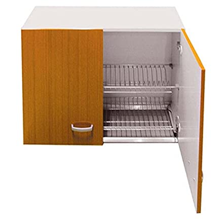 PENSILE SCOLAPIATTI Mobile Cucina Modello LUX cm 80 x 33 Teak ...