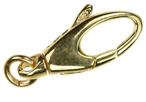 uGems 14K Gold Swivel Lobster Clasp 16mm
