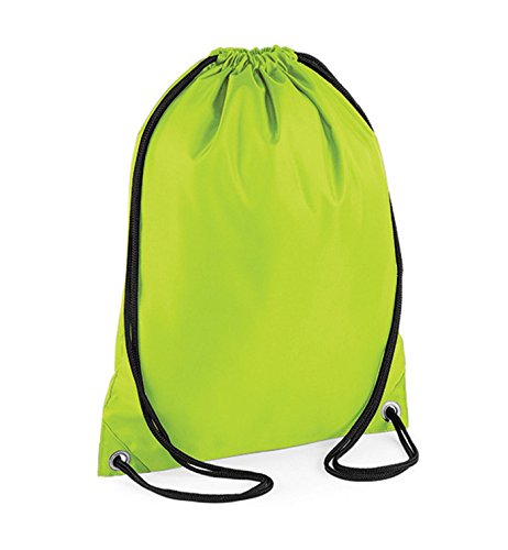 Green Unisex's Medium BG005ORAN Lime BagBase Gymsac Budget Orange Bag 61xq8w