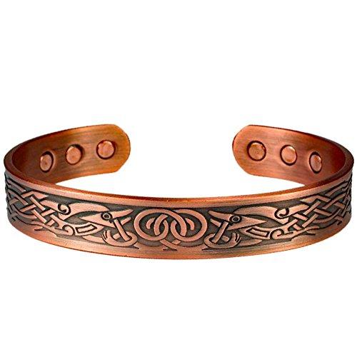MPS® Bracelet jonc, Bracelet magnétique en cuivre, Avec six aimants--#N-BAC-68-C-MJUK