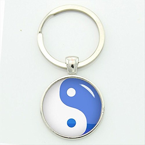 1 Pc Mini Pocket Chinese Taoism Sign Ancient Keychain Keyring Keyfob Eight Diagrams Tai Ji Yin Yang Keys Chains Rings Tags Strap Wrist Excellent Popular Cute Wristlet Utility Keyrings Tool, -