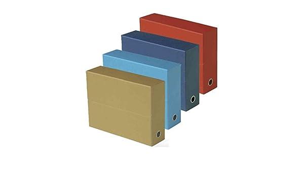 FAST-Caja archivadora transferencia Cubierta de lona 34 x 25 cm, A4, ancho de 9 cm, color rojo a la unidad: Amazon.es: Oficina y papelería