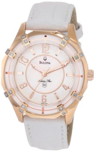 Bulova Marine Star Ladies (Bulova Women's 98R150 Solano Marine Star Leather strap Watch)