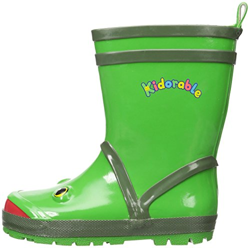 Kidorable Green Frog Natural Rubber Rain Boots With A Pull On Heel Tab (Little Kid) 12 M US by Kidorable (Image #5)