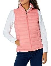 Amazon Essentials Womens Lightweight Water-Resistant Packable Puffer Vest
