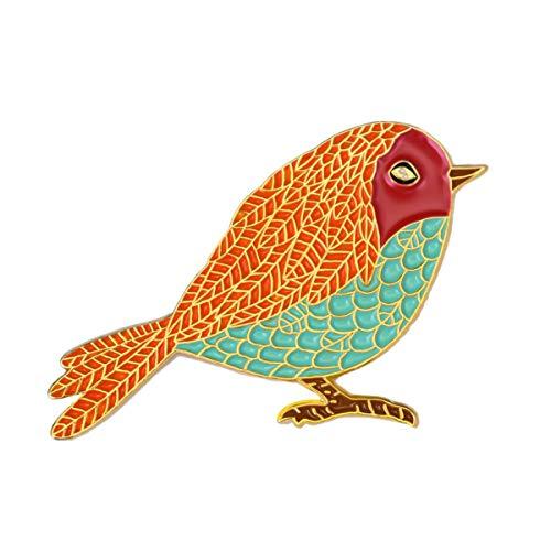 Enamel Bird Pin Brooch - 7