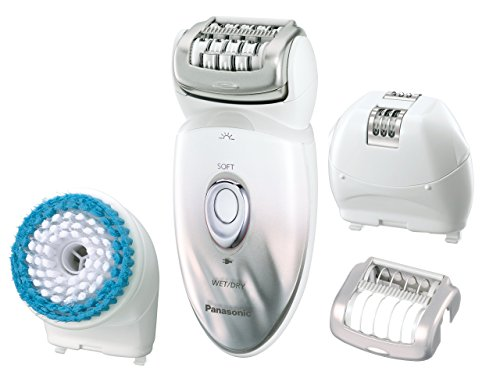 Panasonic-Epilator-Exfoliation-Brush-for-Hair-Removal-and-Body-Care-with-Four-Attachments-and-Travel-Pouch-WetDry-ES-ED64-S