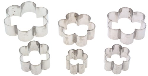 Ateco 7806 Plain Edge Daisy Cutters in Graduated Sizes, Stainless Steel, 6 Pc Set
