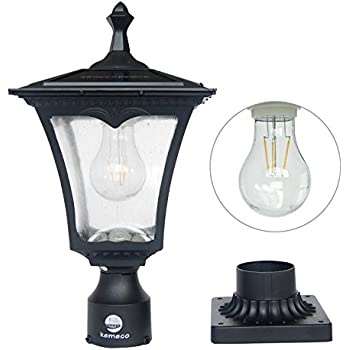 Amazon Com Solar Lamp Post Light Outdoor Post Lights