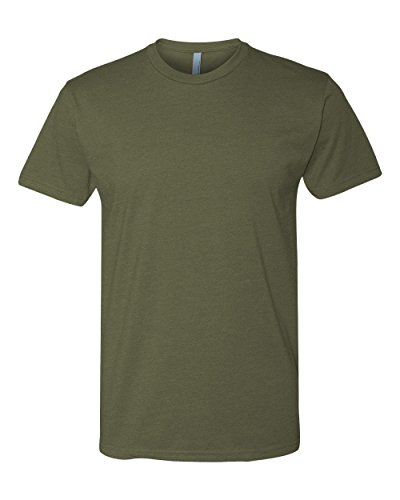 Army Outfit Men (Next Level Apparel N6210 Mens Premium CVC Crew - Military Green, Extra Large)