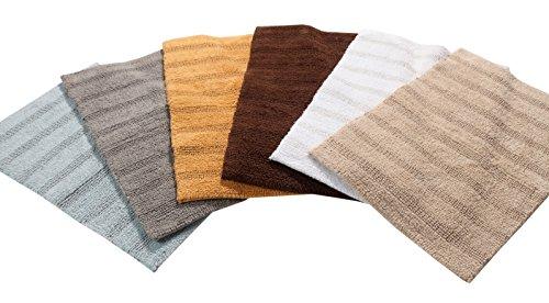 TrendSetter Homez Canterbury Stripe 100% Cotton Hand Tufted Elite Bath Rugs Set of 2 (Reversible Bathroom Rugs) Size 21… -  - bathroom-linens, bathroom, bath-mats - 41SDGJes5mL -