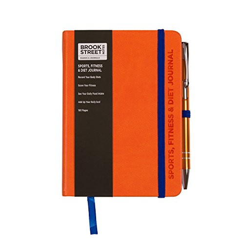 Sports, Fitness & Diet Notebook – Hardback A6 Diet Gift (Bright Orange)