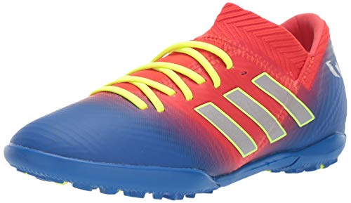 (adidas Unisex Nemeziz Messi 18.3 Turf, Active red/Silver Metallic/Football Blue 4 M US Big Kid)