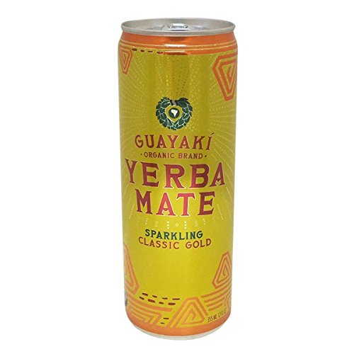 Guayaki Yerba Mate Classic Gold Sparkling Mate, 12-ounce Cans (Pack of 16) (Rockstar Energy Sparkling compare prices)