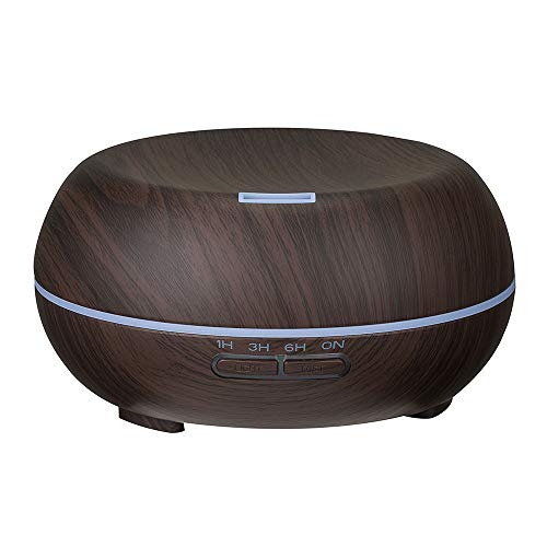 JonerytimeAir Aroma Humidifier Ultrasonic Air Aromatherapy Essential Oil Diffuser 400ml (Black)