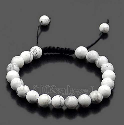 Werrox 8mm Gemstones Bead Yoga Energy Reiki Natural Stone Tassel Braided Rope Bracelets | Model BRCLT - 4044 | ()