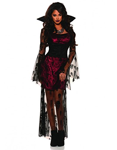 Sexy Vampire Costumes For Women (Underwraps Women's Crimson Sexy Gothic Vampire Costume)