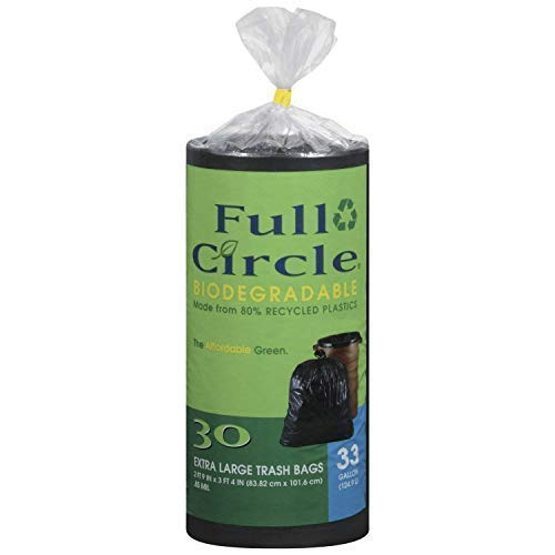 Full Circle - Strong Large Trash Bags - Garbage Bags Multipurpose 33 Gallon | 30 Count