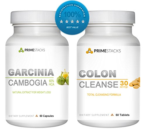 2 en 1 Bundle! Colon Cleanse Plus Garcinia Cambogia ultime perte de poids Combo. Rapide, All Natural Detox, Appétit, et métabolisme Booster. Perdre du poids rapidement - Made in USA