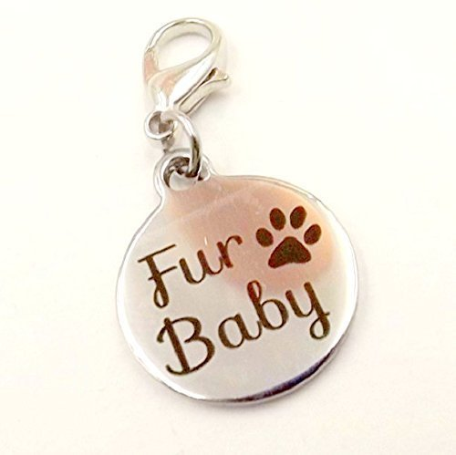 Fur-Baby Charm for Pet Collar Pet collection Dog Cat Stainless Steel Charm
