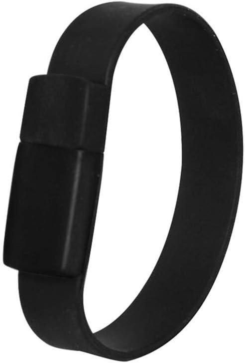 32GB USB 2.0 Flash Drive Novelty Wristband Shape Pen Drive Cute Thumb Drive Fashionable Black Bracelet Pendrive Memory Stick Black Jump Drive Zip Drive Gift