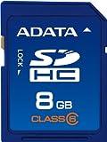 ADATA 8GB Class 6 SDHC Flash Memory Card ASDH8GCL6-R