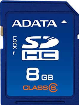 A-Data Turbo- Tarjeta de memoria SD 8 GB clase 6