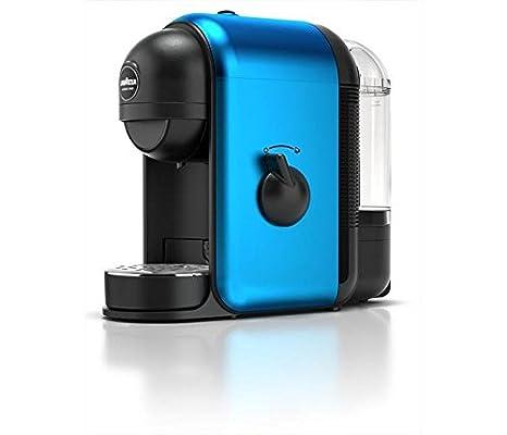 Lavazza Minu Glam + 64 Caps Independiente Máquina espresso Negro, Azul 0,5 L