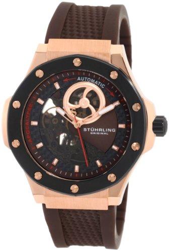 Stuhrling Original Men's 160A.3346K59 Special Reserve Apocalypse Skeleton Automatic Rubber Strap Watch