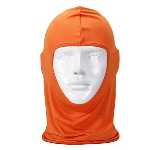 New Classic Lycra Ski Face Mask Bike Bicycle CS Sports Football Mask Balaclava Headband Headgear Halloween face mask #2a,Orange -