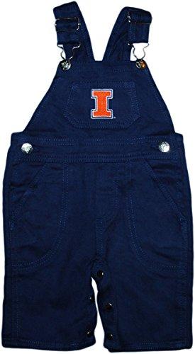 Creative Knitwear University of Illinois Fighting Illini Long Leg Overalls Navy ()