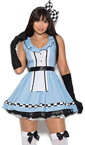 ESSA OAT clothes series Storybook Costume Dress Bow Apron Gloves Checkered