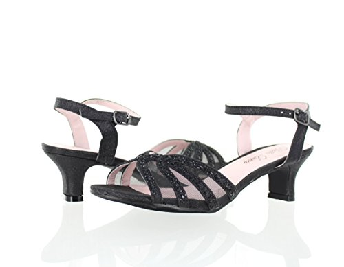 Urban Heel Women's Mesh Rhinestone Strappy Ankle Strap Sanda