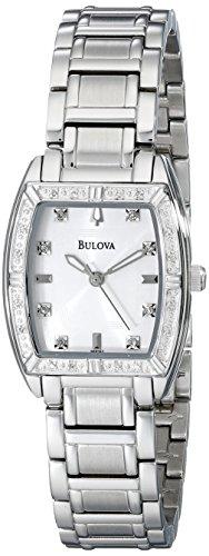 Bulova Women s 96R162 HIGHBRIDGE Diamond Bezel Watch