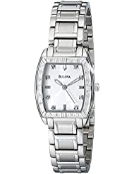 Bulova Womens 96R162 HIGHBRIDGE Diamond Bezel Watch