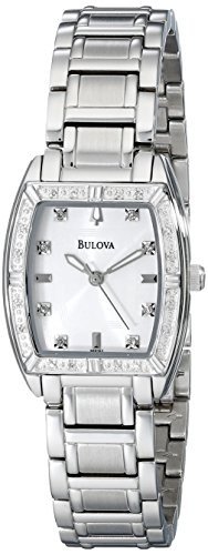 - Bulova Women's 96R162 HIGHBRIDGE Diamond Bezel Watch