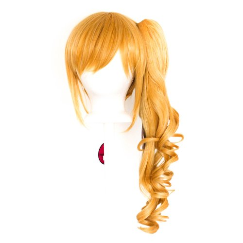 Yuri - Butterscotch Blonde Blend Wig 23'' Curly Pony Tail + 12'' Bob Cut Base Wig - Base Butterscotch