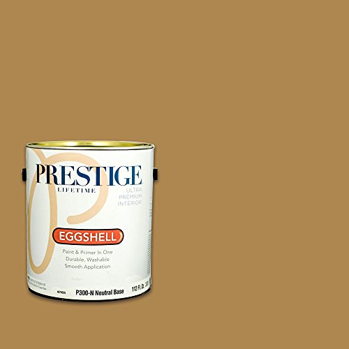 - Prestige, Browns and Oranges 4 of 7, Interior Paint and Primer In One, 1-Gallon, Eggshell, Truffle Oil