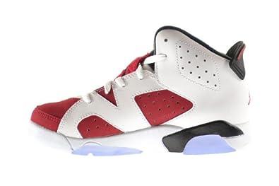 wholesale dealer 454bb 87fb8 Amazon.com   Jordan Air Retro 6 BP Little Kids Shoes White Carmine-Black  384666-160 (2.5 M US)   Basketball