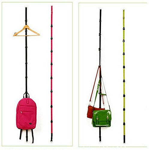 Cucumis 4 Pcs Adjustable Over Door Straps Hanger Hat Clothes Coat Bag Rack Organizer by Cucumis (Image #2)