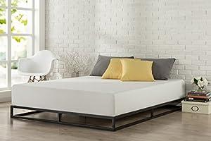 zinus modern studio 6 inch platforma low profile bed frame mattress foundation boxspring optional wood slat support queen - Bed Frames Modern