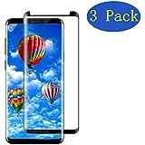 EcoPestuGo Compatible Samsung Galaxy S8 Plus PET HD Screen Protector, EcoPestuGo [3 - Pack][No Bubble][Case-Friendly][3D Coverage] PET HD Screen Protector Film Compatible Galaxy S8 Plus - Black