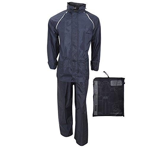 ProClimate Mens Waterproof Rain Suit (Trousers Jacket Set) (X-Large) (Navy)